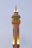 Minarets of Al Fateh Mosque of Bahrain in evening time Stock Image