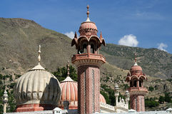 Minarets of a Chitral Mosque royalty free stock image