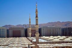 Minarets dans la mosquée de Nabawi photographie stock