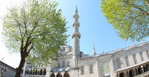 Minarets de Sultan Ahmet Mosque, Istanbul photo stock