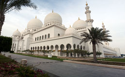 Minarets and domes. Shaikh Zayed's mosque in Abu Dhabi,UAE Stock Photography