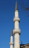 Minarets of Eyup Sultan Mosque, Istanbul. Stock Images