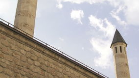 Minarets of Gazi Husrev mosque complex in Sarajevo Royalty Free Stock Images