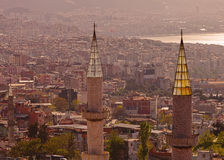 Minarets in Izmir Turkey Royalty Free Stock Images