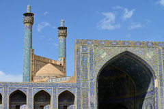 Minarets of the Jameh Mosque of Isfahan, Iran Stock Photography