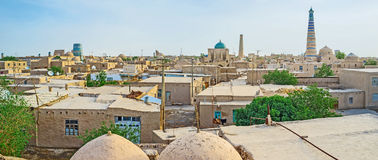 The minarets of Khiva Stock Photography