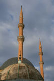 Minarets. Of a mosque in şanlıurfa in southern turkey royalty free stock photography