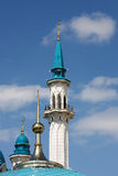 Minarets of the mosque in Kazan Kremlin Royalty Free Stock Images