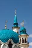 Minarets of the mosque in Kazan Kremlin. Several minarets of the mosque of the Kazan Kremlin Stock Photos
