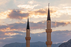 Minarets Mosque Sky Stock Photography
