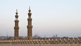 Minarets of the mosques Royalty Free Stock Images