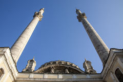 Minarets of Ortakoy mosque in Istanbul Stock Photography