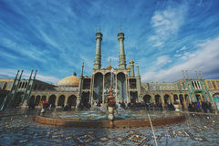 Minarets of Qom in Iran. Qom is considered to be a holy city in Shi`a Islam stock images