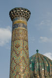 Minarets of Registan, Samarkand Royalty Free Stock Images