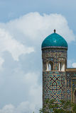 Minarets of Registan, Samarkand Royalty Free Stock Photo