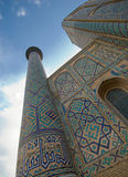 Minarets of Registan, Samarkand stock photography