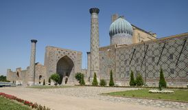 Minarets of Registan, Samarkand Stock Images