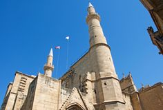 Minarets of Selimiye Mosque in North Nicosia, Cyprus royalty free stock image