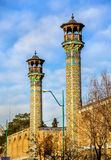 Minarets of Shahid Motahari mosque in Tehran Royalty Free Stock Image