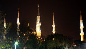 Minarets of Sultan Ahmed Mosque, Royalty Free Stock Images
