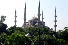 Minarets of Sultan Ahmed Mosque Stock Photos