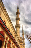 Minarets of the Sultan Ahmet Mosque in Istanbul Stock Images