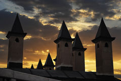 Minarets at sunset Royalty Free Stock Image