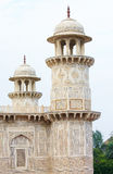 Minarets at the Tomb of I timad ud Daulah in Agra Stock Photo
