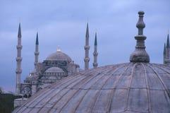 minaretsmoskéer Arkivfoton