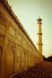 Minarett bei Taj Mahal stockfotografie