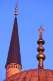 Minarett der blauen Moschee, Istanbul Stockbild
