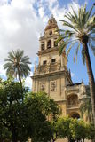 Minarett der Moschee in Cordoba Stockfotos