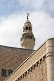 Minarett der Moschee von Omar Stockfoto