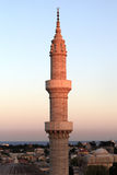 Minarett der Suleiman Moschee im Sonnenuntergang Stockfotos