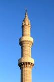 Minarett der Suleiman Moschee in Rhodos Lizenzfreie Stockbilder