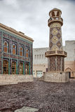 Minarett innerhalb kulturellen Dorfs Katara in Doha, Katar Lizenzfreie Stockfotografie