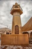 Minarett innerhalb kulturellen Dorfs Katara in Doha, Katar Lizenzfreie Stockfotos