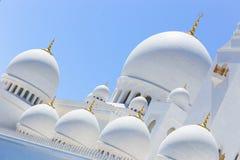 Minarett-Moschee - Abu Dhabi - Shaiekh Zayed Lizenzfreies Stockfoto