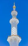Minarett-Moschee - Abu Dhabi - Shaiekh Zayed Lizenzfreie Stockfotografie