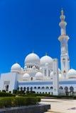 Minarett-Moschee - Abu Dhabi - Shaiekh Zayed Stockfotos