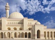 Minarett und Hauben der Al Fateh Moschee, Nanowatt schauend Stockfotos