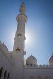 Minarett von Abu Dhabi Mosque, UEA Lizenzfreies Stockfoto
