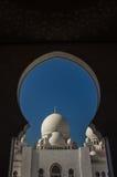 Minarett von Abu Dhabi Mosque in Vereinigte Arabische Emirate Lizenzfreie Stockfotos