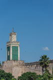 Minarett von Madrasa Bou Inania in Meknes Lizenzfreie Stockfotos