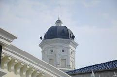 Minarett von Sultan Abu Bakar State Mosque in Johor Bharu, Malaysia Stockfotos