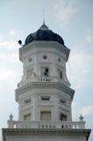 Minarett von Sultan Abu Bakar State Mosque in Johor Bharu, Malaysia Lizenzfreies Stockbild