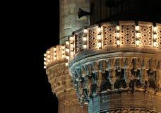 Minarettlichter der blauen Moschee, Istanbul Stockfoto