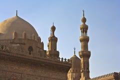 Minaretts und Schicksale der Moscheen stockbild