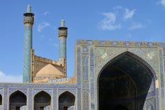 Minarety Jameh meczet Isfahan, Iran fotografia stock