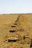 Minas antis del tanque imagen de archivo